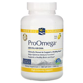 Nordic Naturals, ProOmega, Limón, 1.000 mg, 180 Softgels