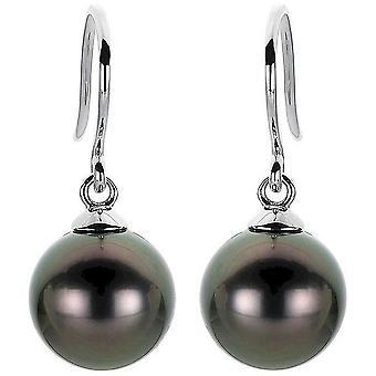 Pearl earring earrings 750-white gold