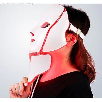 7 Farve Led Facial Neck Mask med Ems Microelectronics Led Photon Mask