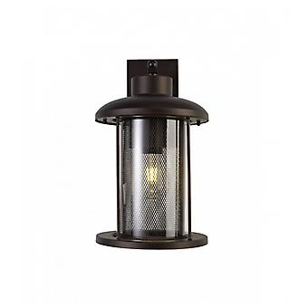 Benson Extra Large Wall Lamp, 1 X E27, Antique Bronze/clear Glass, Ip54, 2yrs Warranty