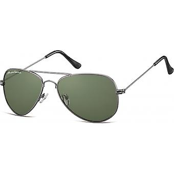 Sunglasses Unisex Cat.3 anthracite/green (S94C)