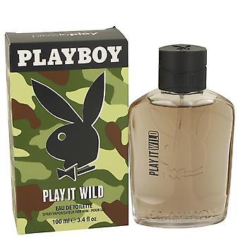 Playboy play it wild eau de toilette spray by playboy 535419 100 ml