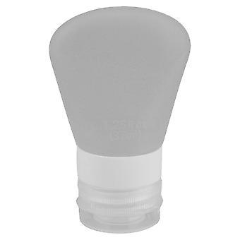 White Silicone Travel Bottle 1.25 fl oz with Locking Cap