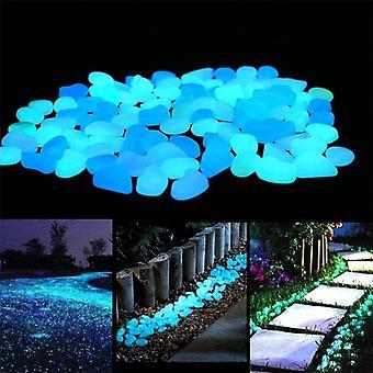 100pcs Luminous Stones Glow In The Dark Pebbles Glowing Stones for Outdoor Walkways Home Garden Yard Decor Fish Tank Pebble Rocks