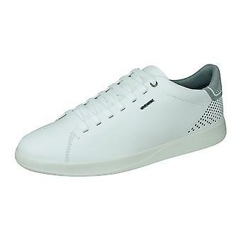 Geox U Kennet B heren nappa leren sneakers/schoenen-wit