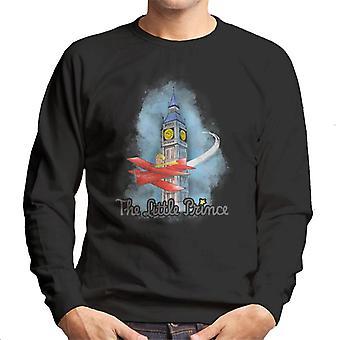The Little Prince Big Ben Plane Men's Sweatshirt
