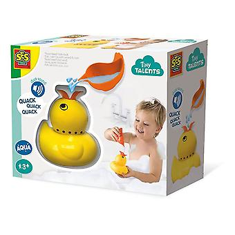 SES Creative Children's Tiny Talents Quack Quack Duck Bath Toy Yellow (13093)