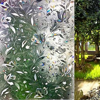 No Glue Privacy Decorative Window Film Static Cling Self-adhesive Opaque Glass
