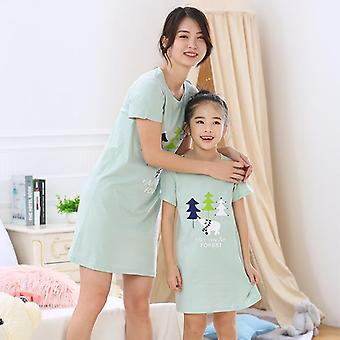 Meisjes Nightgown, Pyjama's, Korte Mouwen Nightdress Set-2