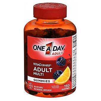 باير واحد في اليوم VitaCraves الكبار متعدد الفيتامينات Gummies، 150 لكل