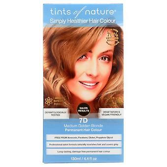 Tints of Nature Permanent Hair Color, 7D Medium Golden Blonde 4.4 Oz