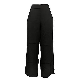 BROOKE SHIELDS Timeless Women's Petite Pants Wide-Leg Pull-On Black A352138