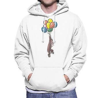 Curieux George Balloon Flying Hat Men-apos;s Sweatshirt à capuchon