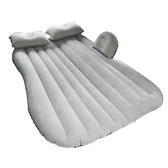 Grey Inflatable Car Air Bed Mattress Back Seat Cushion Part For Camping