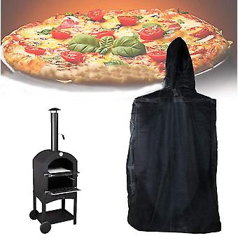 Garden Courtyard Barbecue Grill Waterproof Cover Outdoor Pizza Stove Cover Dustproof Rain Belt Pull Rope Outdoor Protective Cover