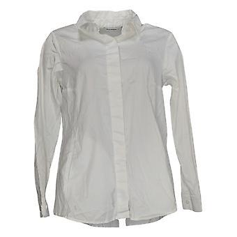 アイザック・ミズラヒライブ!女性&アポス;sトップボタンダウン襟付きシャツ白A378608