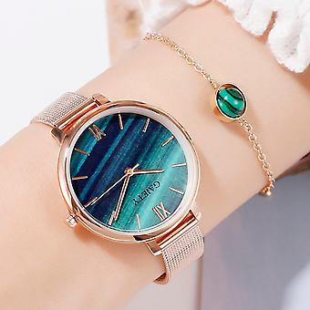 Luxury 2 Pcs Set Watch- Water Drill Bracelet Jewelry Ladies Female Hour Casual