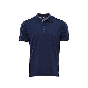 Polo collar navy blue t-shirt