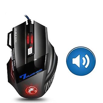 Ergonomic Wired 7 Button Usb Gaming Mouse With Backlight For Computer/laptop