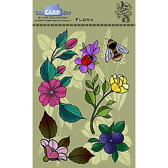 The Card Hut Flora Clear Stamps