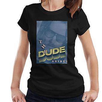 The Big Lebowski The Dude 3D Text Nostalgia Women's T-Shirt
