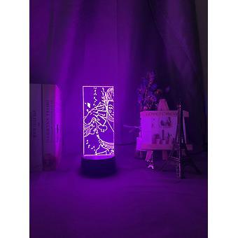 תאורת לילה אשליה אופטית 3D - מנורת החלפת צבעים LED