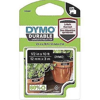 Märkning tape DYMO D1 1978365 Vinyl Tape färg: svart teckensnitt färg: vit 12 mm 3 m