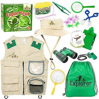 Allegri bambini giocattoli bambini esploratore kit kit di caccia bug explorer costume include explorer cappello carg
