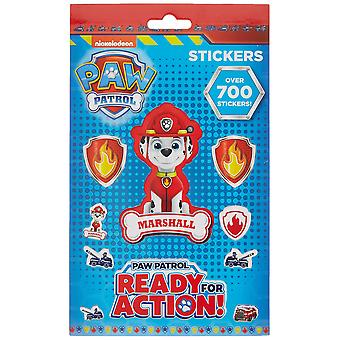 Nickelodeon paw patrol characters set of 700 stickers 9 sheets 29.7x21x2 cm