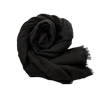 Huivi 180x100 cm puuvilla/pellava Musta