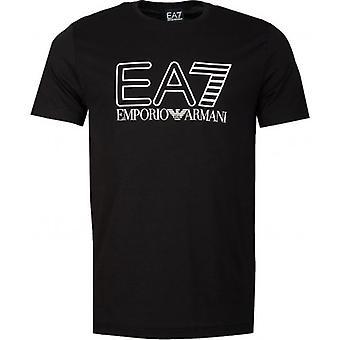 EA7 Emporio Armani Zug Logo Serie Satin T-Shirt