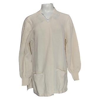 Chiunque maglione da donna maglia cardigan avorio a fronte aperto A373430