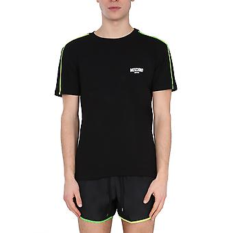 Moschino 191423160555 Mænd's Sort Bomuld T-shirt