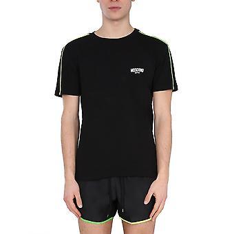 Moschino 191423160555 Männer's schwarze Baumwolle T-shirt