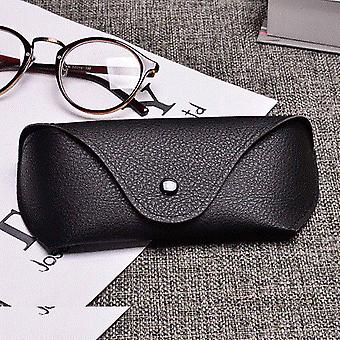 Pu Leather Glasses Case Cover Sunglasses Holder Box Eyeglasses Solid Storage