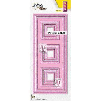 Nellie's Choice Multi Frame Die - Slimline Squares Mfd140 87,5x212,5mm