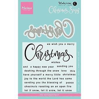 Marianne Design Znaczki Boże Narodzenie Piosenka Kj1719