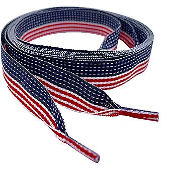 USA American Flag Ribbon Shoelaces Laces
