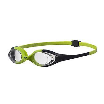 Arène Spider Junior Swim lunette - lentille claire - marine/citronnelle