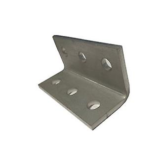 M10 6 Hole Angle Plate (1060) For Channels T304 Stainless Steel (as Unistrut / Oglaend)