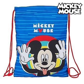 Backpack with strings mickey mouse me time blue red