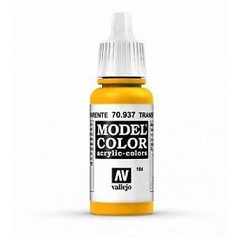 Vallejo Model Color 17ml Acrylic Paint - 937 Transparent Yellow