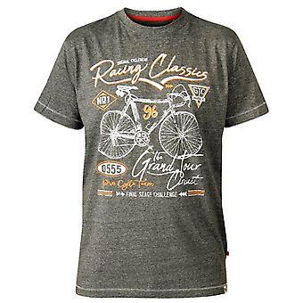 Duke Herren Eastwood D555 Fahrrad Print T-Shirt