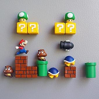 Super Mario Resin Fridge Magnets, Home Ornaments Wall Bullets Bricks