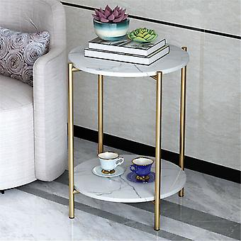 Modern Nordic Marble Coffee Table Living Room Sofa Side Table Round End Table