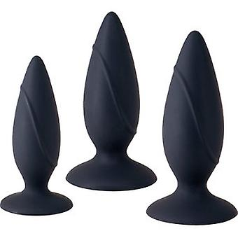 Seven Creations Essence Black Anal Training Kit 3 pieces