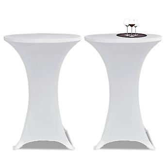 Standing Table Cover  60cm White Stretch 2 Pcs