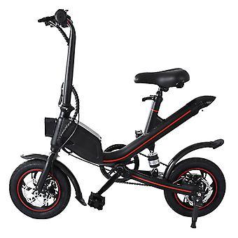 الاشياء المعتمدة® دراجة كهربائية قابلة للطي - على الطرق الوعرة الذكية E الدراجة - 250W - 6.6 آه البطارية - أسود