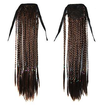 Manual Small Braids Horsetail Bohemian Style Wig