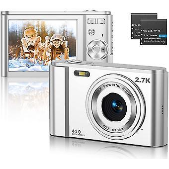 HanFei Digitalkamera, FHD 2.7K 44MP Pocket Vlogging Vidio Fotokameras Kompakt fr YouTube mit